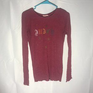 Juicy Couture Long Sleeve Top Size Medium